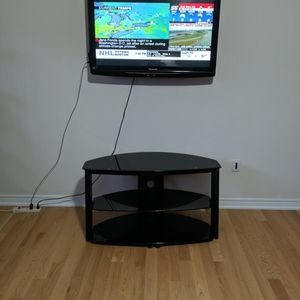 Other - Black T V Glass Stand